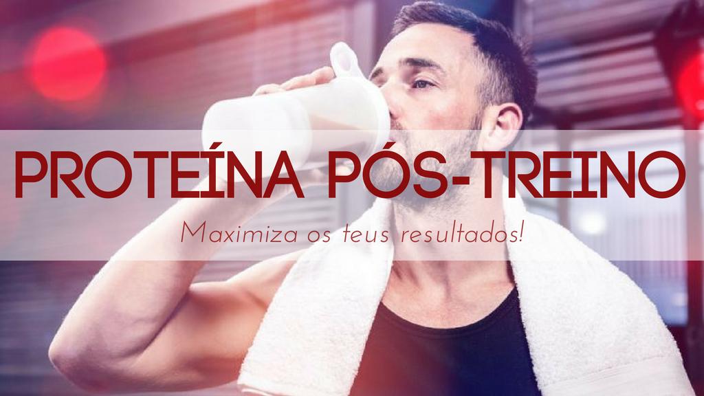 A ingestão de proteina pós-treino é essencial para maximizar os resultados.