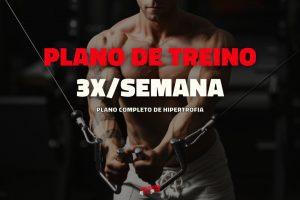 Plano de treino para treinar 3 vezes por semana