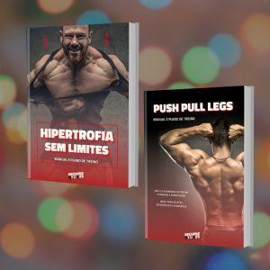 Pacote Hipertrofia Total tem tudo o que precisas para os primeiros anos de musculação - com os e-books Hipertrofia Sem Limites e Push-Pull-Legs - terás tudo o que precisas para desenvolver a tua massa muscular!